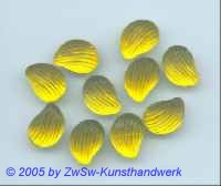 1 Muschelstrassstein gelb/seidenglanz