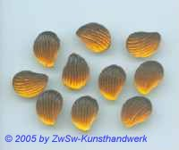 1 Muschelstrassstein topas/seidenglanz