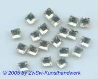 1 Strassstein kristall 6mm x 6mm