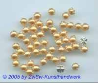 Strassstein, 1 Stück, (apricote), Ø 4,5mm