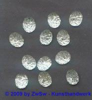 1 Strassstein mit Prägung kristall, 10mm x 8mm