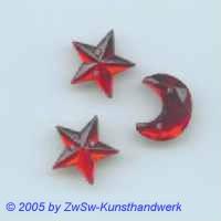 Mond und Sterne in rot