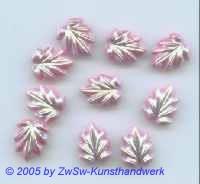 1 Strassstein in Blattform rosé/AB, 13mm x 10mm