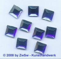 1 Strass/quadratisch 8mm x 8mm dunkelblau