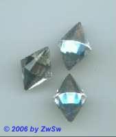 1 Strassstein Raute kristall, 18mm x 12mm
