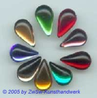 9 Strass/Tropfenform (bunt), 12mm x 8mm