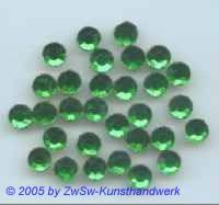 Strasssteine Ø 6,5mm smaragd, 1 Stück