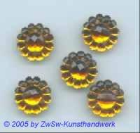 1 Blütenstrassstein dunkeltopas Ø 13mm