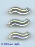Strassstein als Welle kristall/AB, 23mm x 8mm