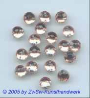 1 Stück Strassstein rosa Ø 7mm zum aufnähen