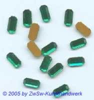1 Strass/Stäbchenform 8mm x 4mm (grün)