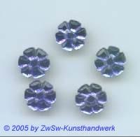 Strassstein in Blütenform, Ø 13mm, 1 Stück dunkelblau