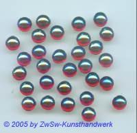 Muggelstein rubin/AB Ø 7mm, 1 Stück