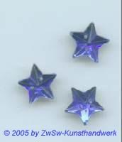 Stern in dunkelblau, Ø 11mm  1 Stück