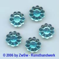 Blütenstrassstein 1 Stück aquamarine, Ø 15mm