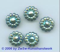 Blütenstrassstein 1 Stück scarabäus/AB, Ø 13mm