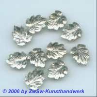 Strassstein in Blattform kristall 1 Stück, 13mm x 10mm