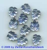 Strassstein in Blattform blau 1 Stück, 13mm x 10mm