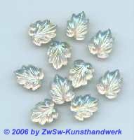 Strassstein in Blattform kristall/AB 1 Stück, 13mm x 10mm