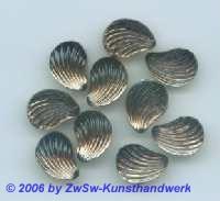 Muschelstrassstein rauchtopas, 1 Stück, 13mm x 10mm