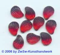 Muschelstrassstein rot, 1 Stück, 13mm x 10mm