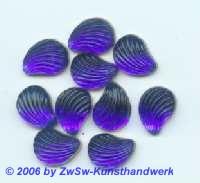Muschelstrassstein blau, 1 Stück, 13mm x 10mm