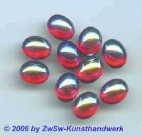 Muggelstein rot/AB mit HOT FIX 1 Stück, 10mm x 8mm