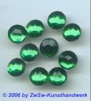 Strasssteine HOT FIX, Ø 9mm grün 1 Stück