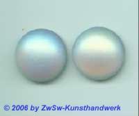 Muggelstein kristall/gefrostet/AB 1 Stück, Ø 15mm