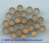Muggelstein rauchtopas/gefrostet mit hot fix, 1 Stück