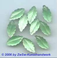 Strassstein in Blattform 1 Stück zartgrün