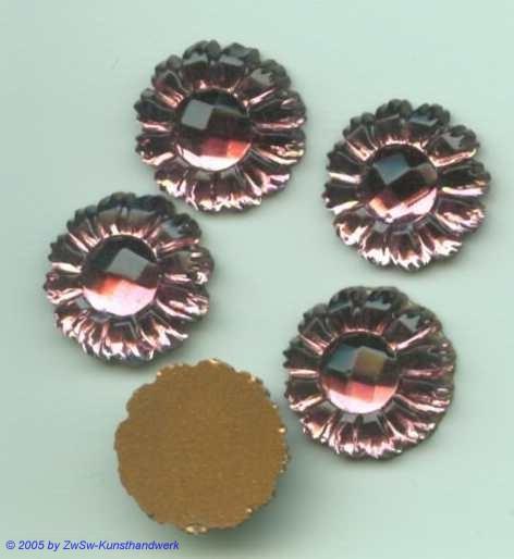 1 Strasssteine in Form einer Blüte (amethyst), Ø 13mm