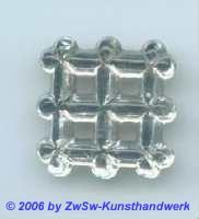 Zierstein 19mm x 19mm kristall 1 Stück