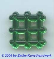 Zierstein 19mm x 19mm grün 1 Stück