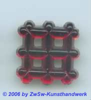 Zierstein 19mm x 19mm rot 1 Stück
