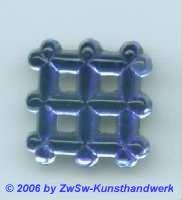 Zierstein 19mm x 19mm blau 1 Stück