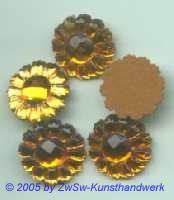 1 Strassstein in Form einer Blüte (topas), Ø 13mm