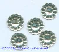 1 Strassstein in Form einer Blüte (kristall), Ø 13mm