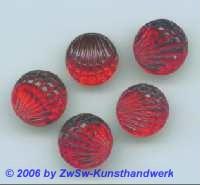 Jakobsmuschel, Ø 14mm 1 Stück rot