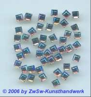 Strass/quadratisch 4mm x 4mm hot fix (rosa/AB), 1 Stück