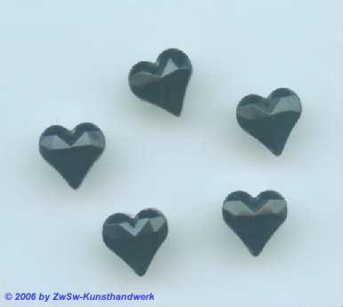 Herzen schwarz  1 Stück