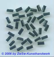 Strassstein Stäbchen schwarz hot fix, 7mm x 3mm, 1 Stück