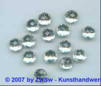 1 Strass kristall, Ø 11mm, Multifacettenschliff