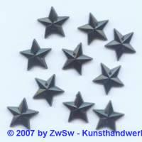 1 Sterne schwarz zum aufnähen, Ø 15mm