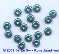 1 Zierstein mit Sternenprägung scarabeus, Ø 9mm