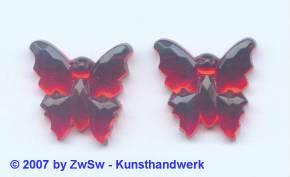 1 Strassstein Schmetterling rot