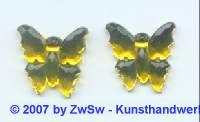 1 Strassstein Schmetterling zitronengelb