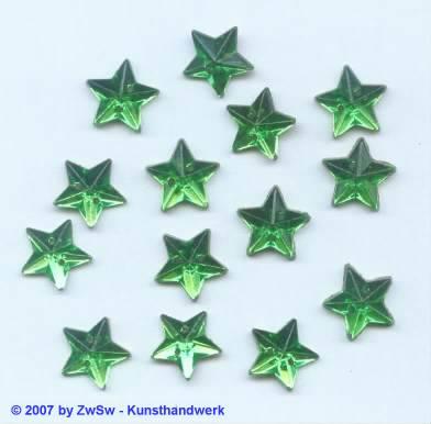 1 Strassstein 11 mm in smaragd zum nähen