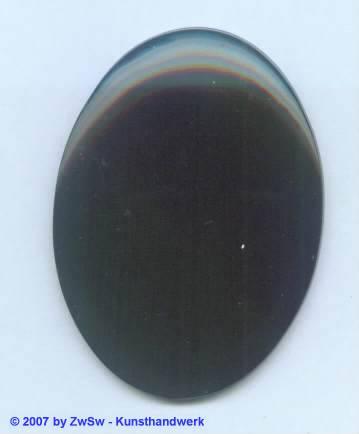 Acrylglasplatte oval schwarz 1 Stück