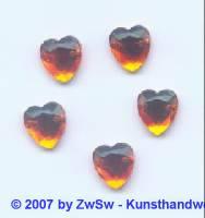 Strassherz 10mm x 9mm, 1 Stück orange